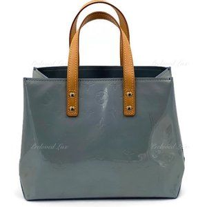 Authentic LOUIS VUITTON Vernis Reade PM Bag Blue